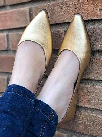 Sapatilha Linha Luxo Dourada