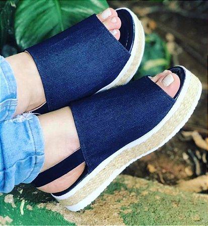 Sándalia Jeans Faixa