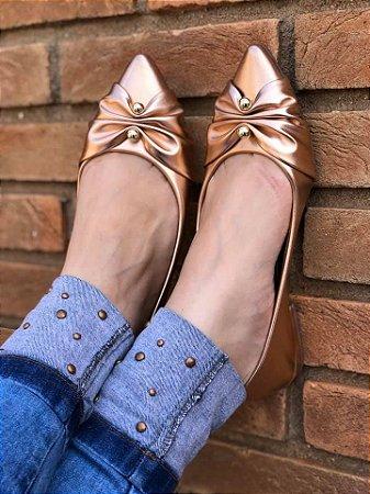 Sapatilha Elegance Rosê Metalizada