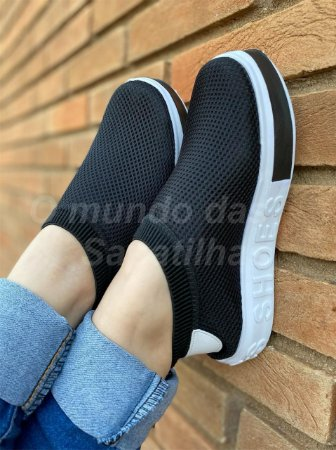 Tênis Meia Shoes Preto