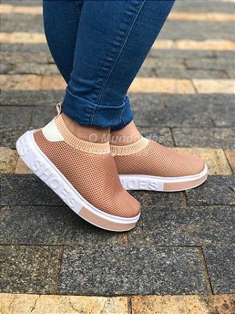 Tênis Meia Shoes Nude