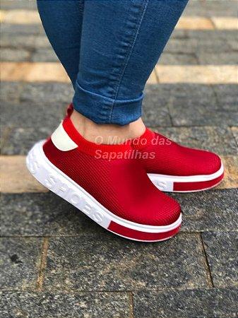 Tênis Meia Shoes Vermelha