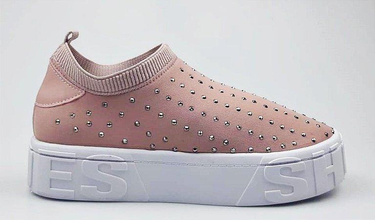Tênis Meia Shoes Rosê Hotfix