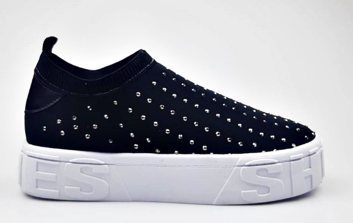 Tênis Meia Preto Shoes Hotfix