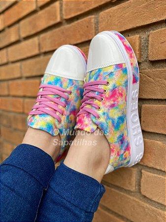 Tênis Cadarço Tie Dye Sola Shoes