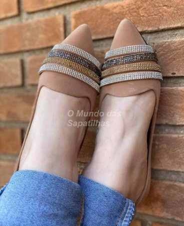 Slipper Nude Strass Colors