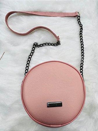 Bolsa Redonda Rosê Alça Corrente