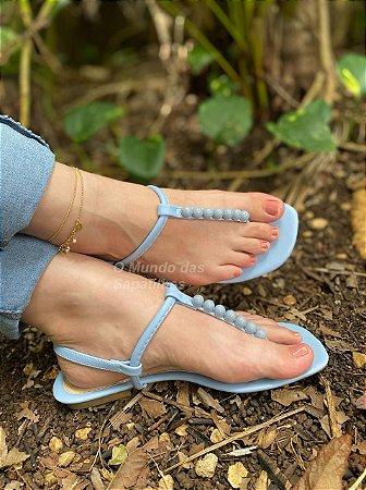 Sandália Rasteira Brisa Azul Bebê
