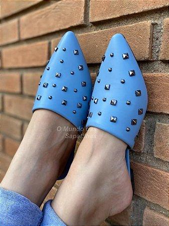 Mule Azul Nuvem Spike