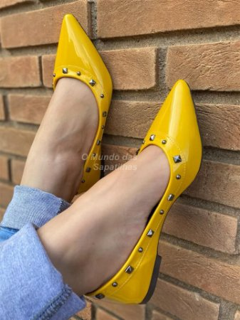 Sapatilha Valentino Amarela Verniz