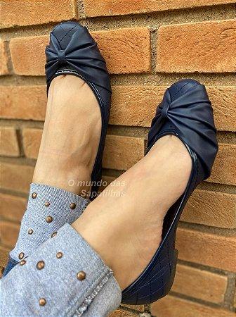 Sapatilha Quadrada Melissa Azul