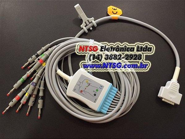Cabo Paciente de ECG 10 Vias para Eletrocardiógrafo GE MAC 400