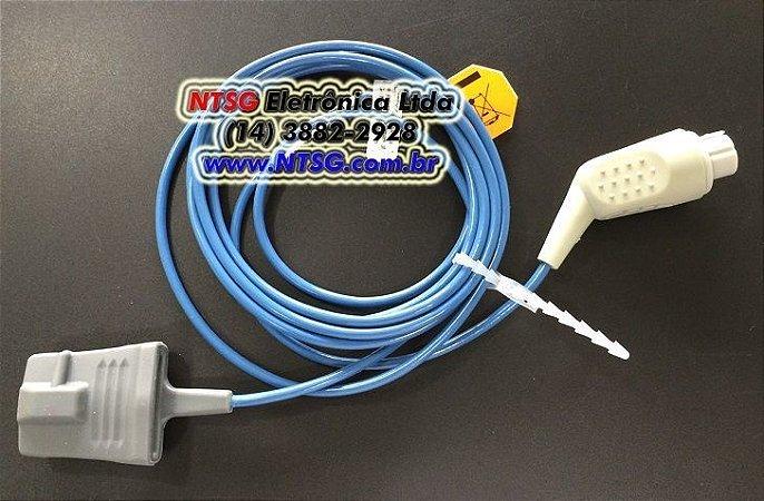 Sensor de Oximetria tipo Soft-Finger (Silicone) Adulto para monitor Datex Ohmeda Cardiocap 5
