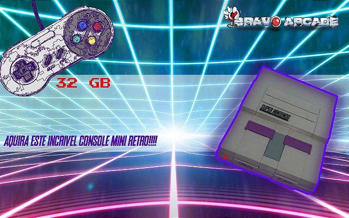 Mini Snes Super Nintendo Console Raspberry Pi 7 Mil Jogos