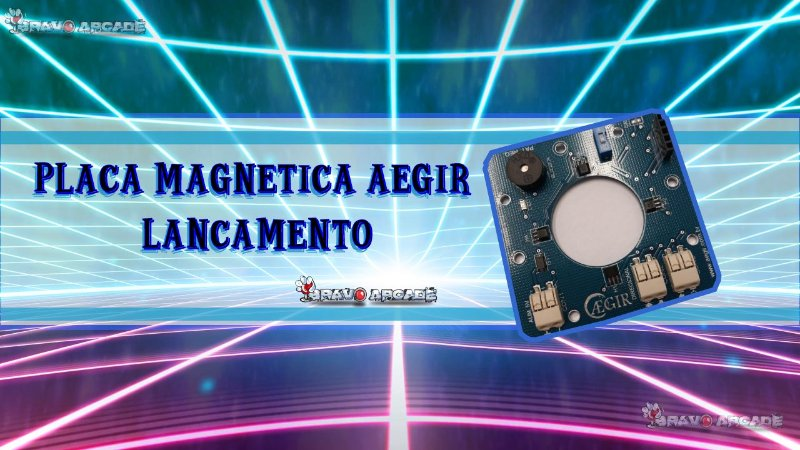 Placa Magnética Para Comandos Arcade Bartop Aegir