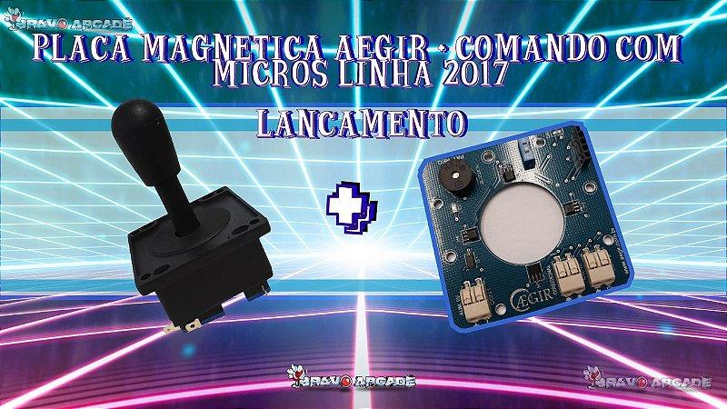Kit Placa Magnética + Comandos Aegir Fliperama Bartop