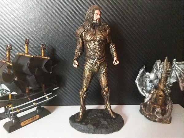 Boneco Resina Aquaman Coleção Action Figure 20 Cm