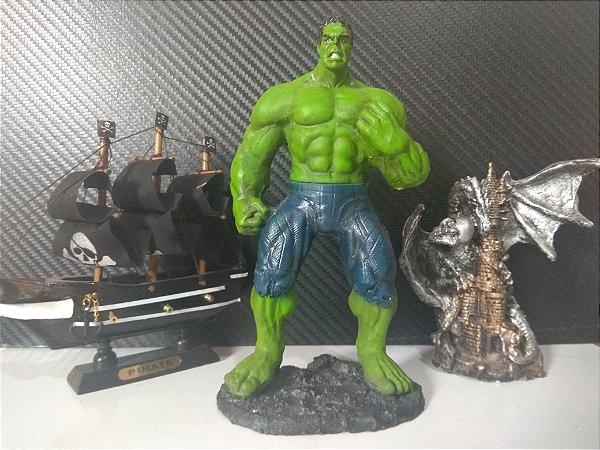 Boneco Resina Hulk Coleção Action Figure 18 Cm