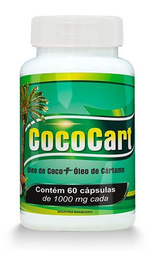 CocoCart - Óleo de Coco + Óleo de Cártamo - 60 Cápsulas