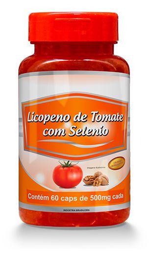 Licopeno de Tomate com Selênio 60 Cápsulas Gelatinosas