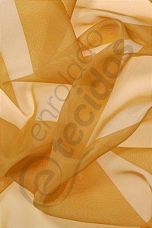 Tecido Voil Dourado Ouro 3,0m de Largura