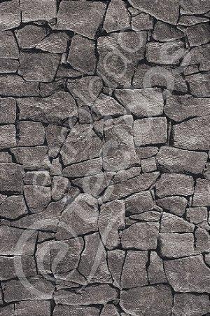 Tecido Jacquard Estampado Pedra Cinza 1,40m de Largura
