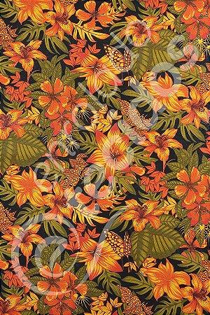 Tecido Gorgurinho Floral 1,50m de Largura