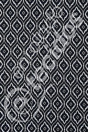 Tecido Jacquard Estampado Arabesco Preto 1,40m de Largura