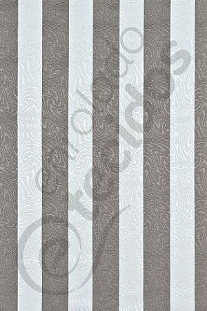 Tecido Jacquard Estampado Listrado Cinza e Branco 1,40m de Largura