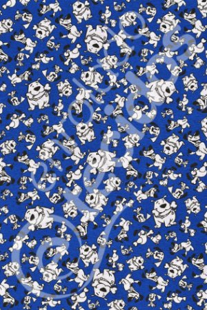 Tecido Gorgurinho PET Cachorro Azul 1,50m de Largura
