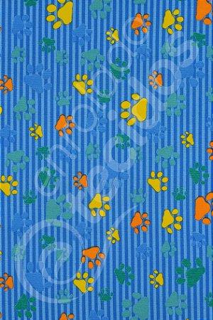 Tecido Gorgurinho PET Patinha Animal Azul 1,50m de Largura