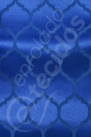 Tecido Jacquard Azul Royal Geométrico 2,80m de Largura