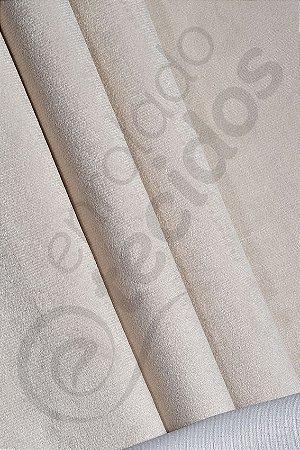 Tecido Suede Veludo Liso Bege Marfim 1,45m de Largura