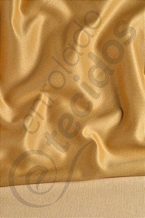 Tecido Jacquard Dourado Liso 2,80m de Largura