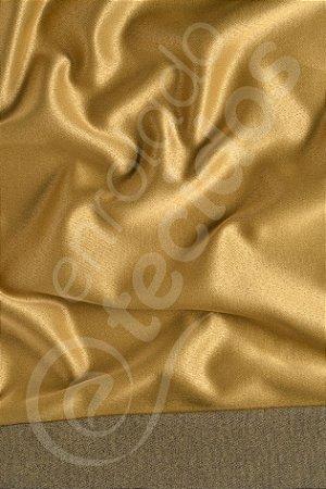 Tecido Jacquard Dourado e Preto 2,80m de Largura