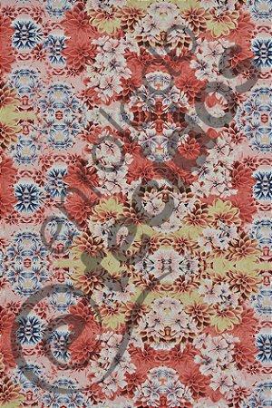 Tecido Summer Impermeável Floral 1,40m de Largura