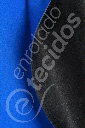 Neoplex tipo Neoprene 2,0mm Azul Royal e Preto 1,4m de Largura