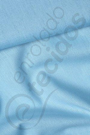 Tecido Percal 150 Fios Azul Bebê 2,50m de Largura