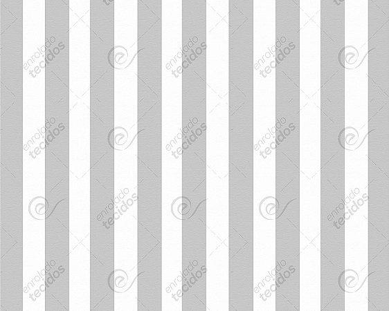 Tecido Jacquard Fio Tinto Listrado Cinza (desenho sentido largura) 2,80m de Largura