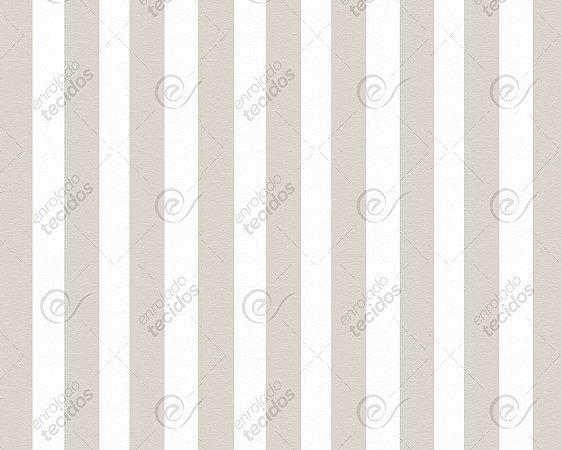 Tecido Jacquard Fio Tinto Listrado Bege (desenho sentido largura) 2,80m de Largura