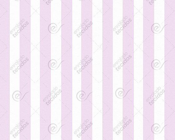 Tecido Jacquard Fio Tinto Listrado Rosa Bebê (desenho sentido largura) 2,80m de Largura