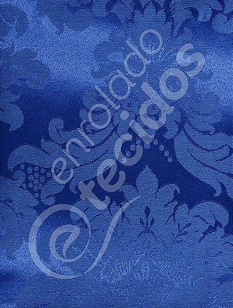 Tecido Jacquard Azul Royal Medalhão ou Listrado 2,80m de Largura