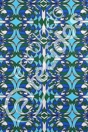 Tecido Jacquard Estampado Abstrato Azul 1,40m de Largura