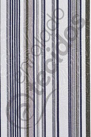 Tecido Jacquard Estampado Listrado Cinza e Verde 1,40m de Largura