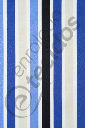 Tecido Jacquard Estampado Listrado Azul e Bege 1,40m de Largura