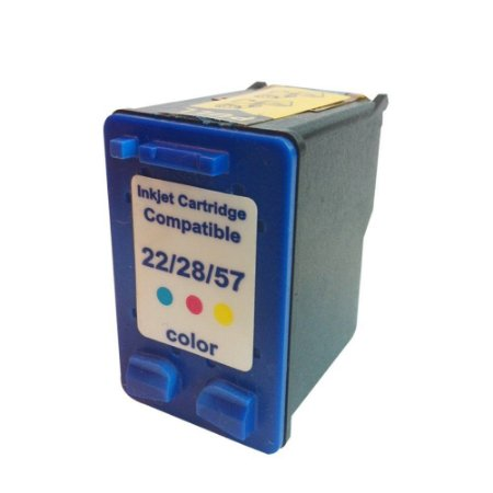 Cartucho de Tinta Compatível HP 22/28/57 Colorido 14ml