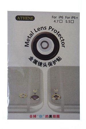 Aro em Metal para Proteção Lente Câmera Iphone 6-6 Plus