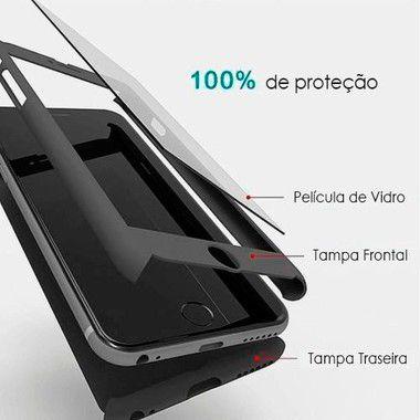 Capa 360º Frente e Verso com Película para iPhone 5-5s Cores Variadas