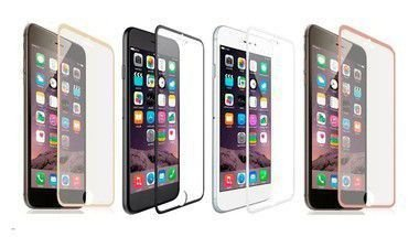 Película de Vidro com Bordas Metálicas para Celular Linha Apple IPhone Cores Sortidas