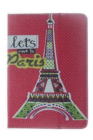 Capas para Tablet 7 Polegadas Universal em Tecido Estampas Diversas Torre de Paris